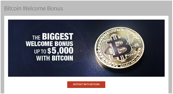 Bitcoin bonuses at Bovada