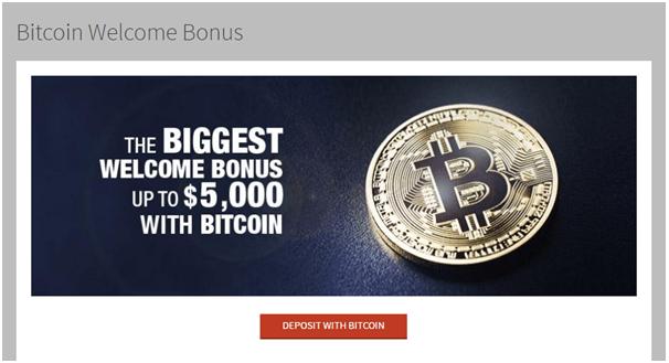 Bitcoin bonuses at Bovada