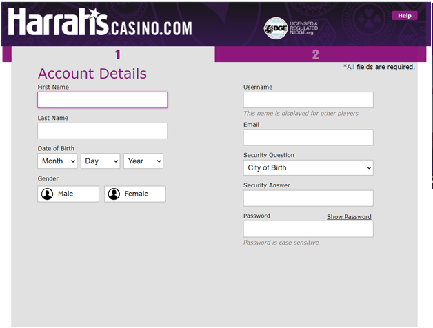 Harrah's online casino - how to get started