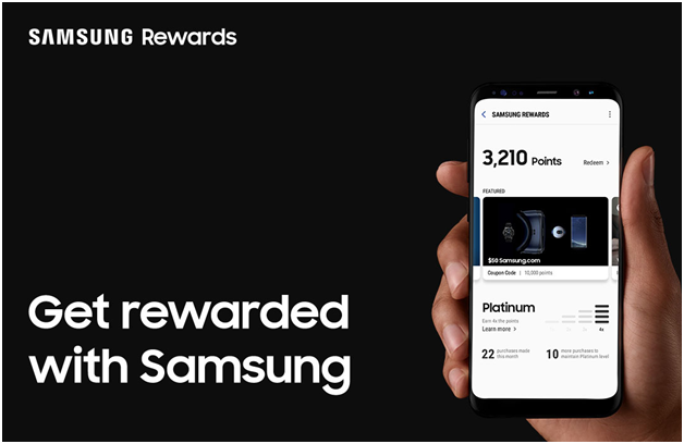 How to earn points at Samsung store?