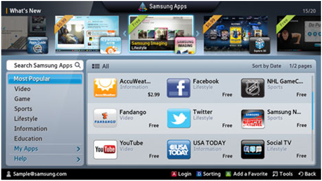 How to install apps on your Samsung Smart TV?