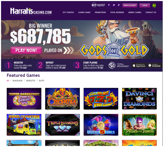 How to play slots at Harrah's online casino