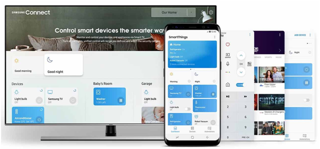 Smart Things App on Samsung Smart TV