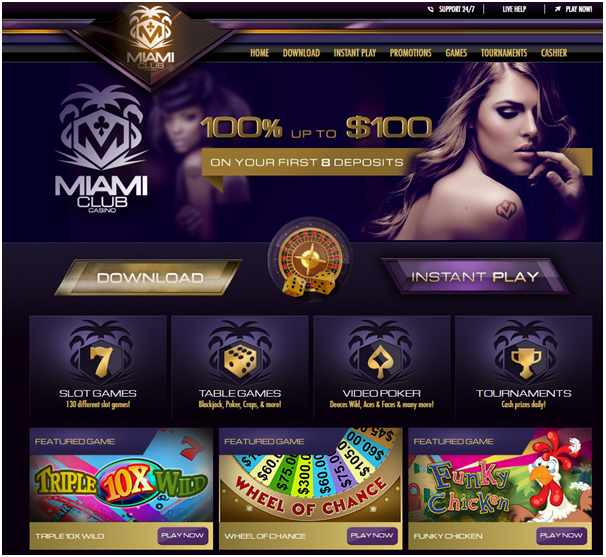 Miami Club Casino- Bonuses and promotions