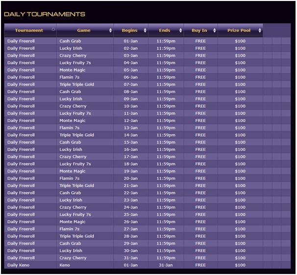 Miami Club Casino- Tournaments