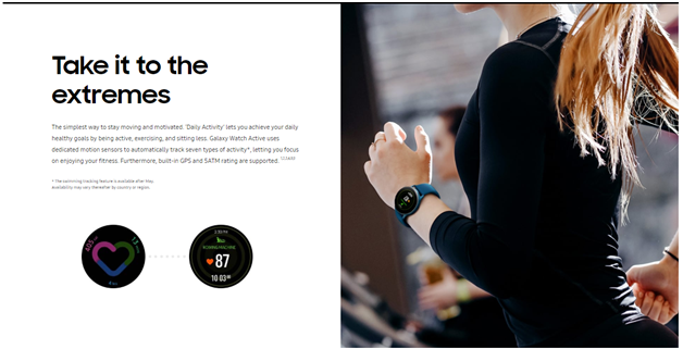 Samsung fitness watch