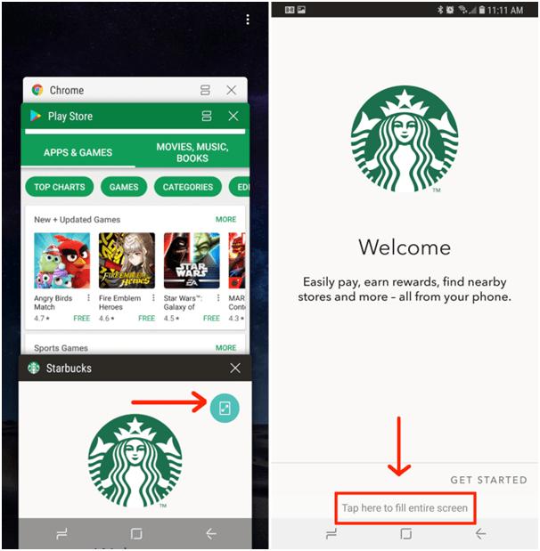 Samsung Galaxy Note 8- ways to make apps fullscreen