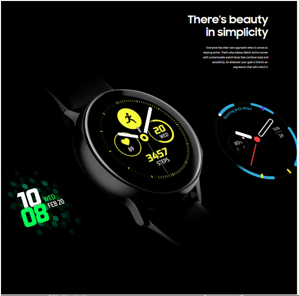 Samsung Galaxy Active watch features