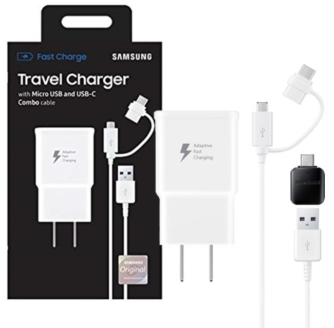 Samsung Genuine Micro-USB / USB Type-C Fast Charge Wall Charger