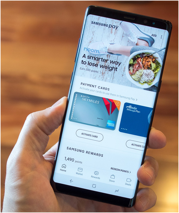 Use samsung Pay for points