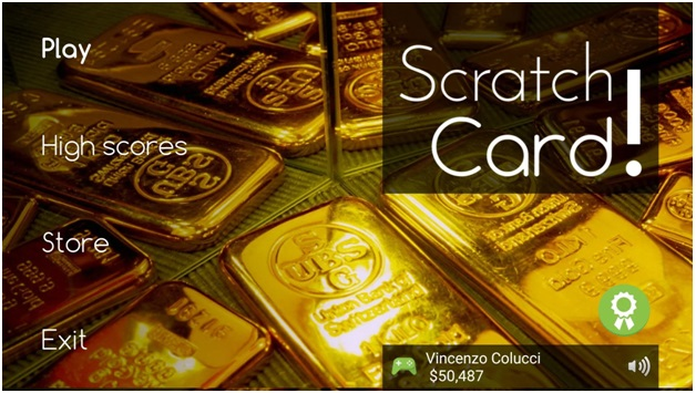 Scratch cards app