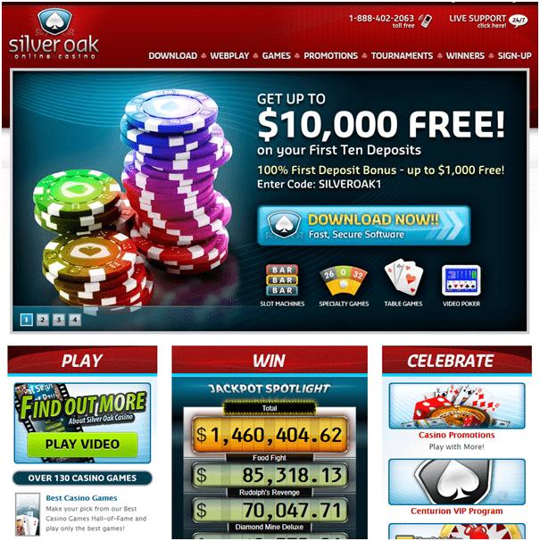 Silver oak Casino No Deposit