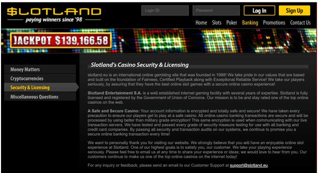 Slotland Casino Licensing