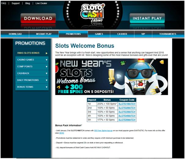 Slotocash casino- Bonuses