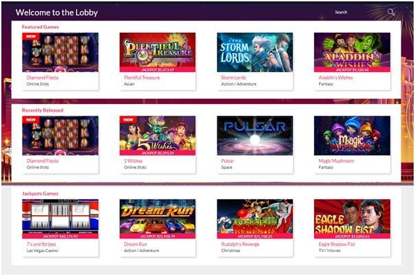 Slot games at Slots of Vegas Casino