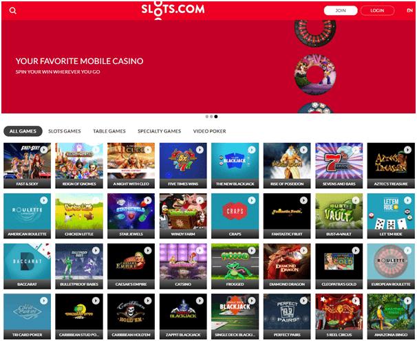 Slots.com Casino Games