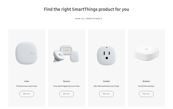Samsung Smart Things devices