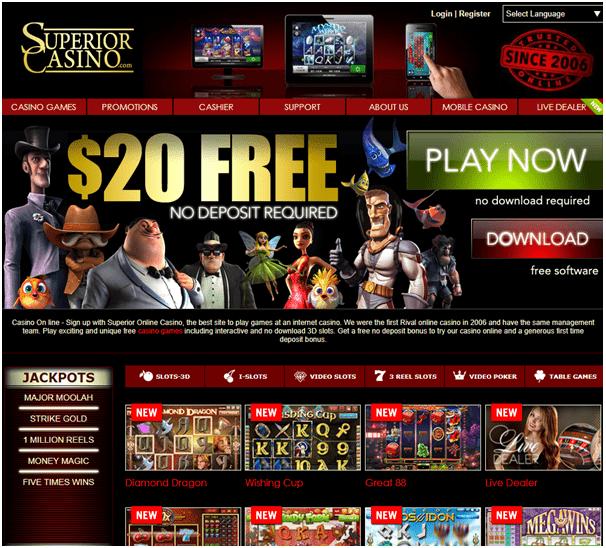Superior casino No deposit