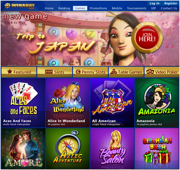 Win A Day Casino- Games to Enjoy