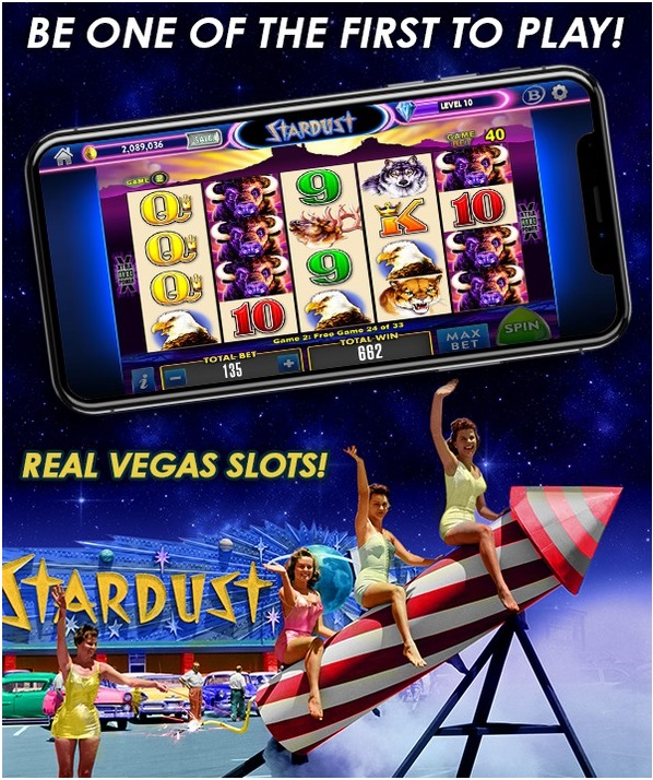 play at Stardust the new social casino on your mobile and earn rewards